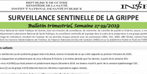 4ème Bulletin de surveillance épidémiologique de la Grippe en Guinée